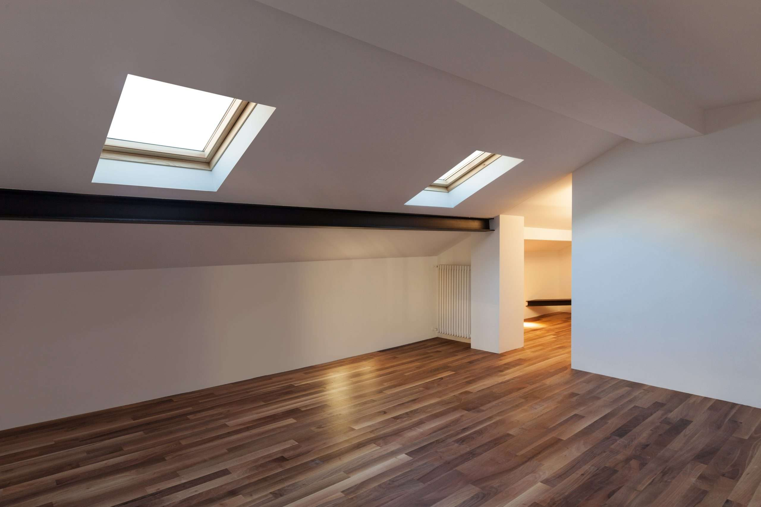 Interior of developed loft